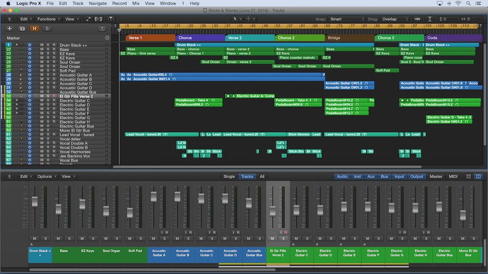 Arranging and production In logic pro X graphic